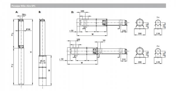 Глубинный насос для воды WILO SPU4.02-14-B/XI4